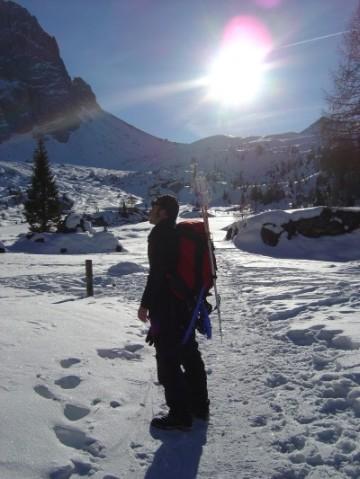 Di nuovo sulla sterrata della Val Venegia, a fondovalle.