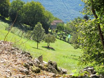 Eccoci in prossimità di Borgo Caloniche di Sopra. Osservare da lontano il borgo e la vita che vi si svolge all'interno è un po' come ammirare un piccolo presepe.