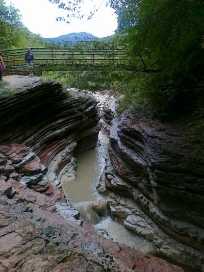 Il ponte da dove si possono vedere i Brent de l'Art.