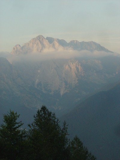 Spettacolare Monte Coglians da Rifugio Chiampizzulon.