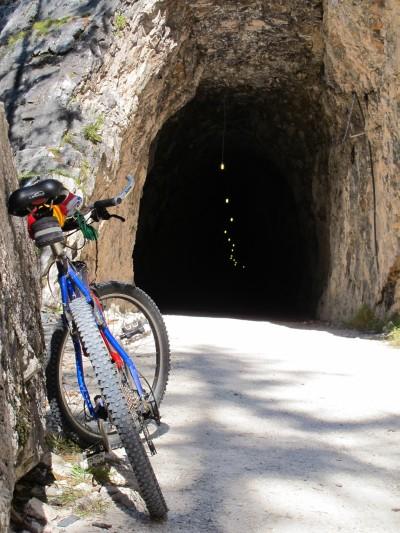Galleria sulla ciclabile Cortina - Dobbiaco.