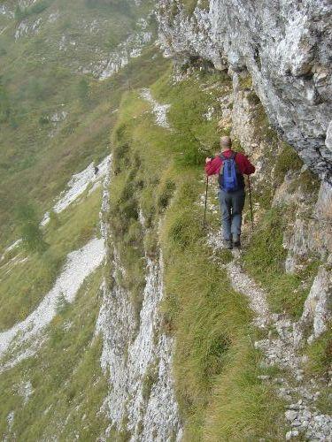 Sulla via del ritorno, mai scontata quassù in Alpago.