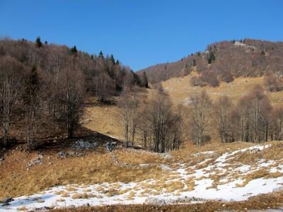 Un ultimo sguardo prima di scendere, verso la zona di Col delle Palse.