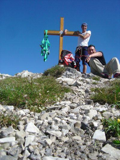 Finalmente in cima al monte Pelf (2502 metri).