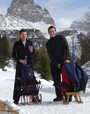 Salita al Monte Piana in stile Polo Nord. :-)
