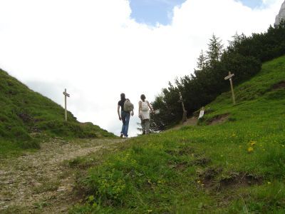 Forcella Forada: un'ottima vista sulla Val del Boite, nubi permettendo!