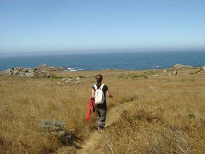 Fuori dalla macchia, al di la della strada, ci attende nuovamente la costa oceanica per l'ultimo tratto del tracciato.