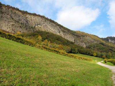 Sotto la lunga e verticale Costa di Serravalle, via Vinera si trasforma in via Sassi.