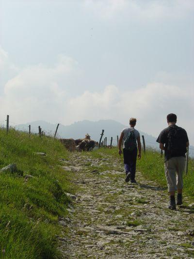 Il Paletto in partenza sulla strada bassa. (sentiero CAI 926).