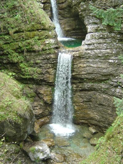 Una delle cascate che si possono ammirare tra Muda Maè e Soffranco.