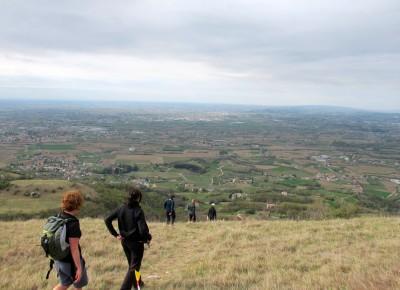 Trail del Patriarca, la vista dal colle