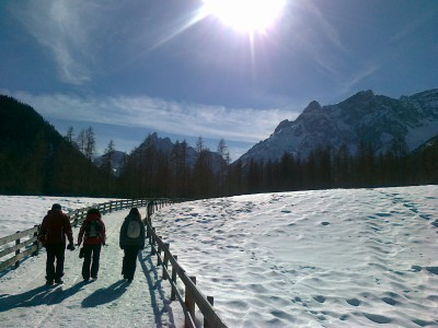 La prima parte del tracciato della Val Fiscalina promette già bene.