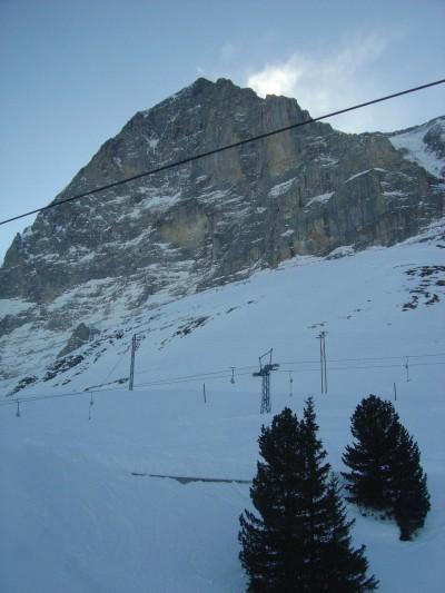 La famosa parete Nord dell'Eiger.