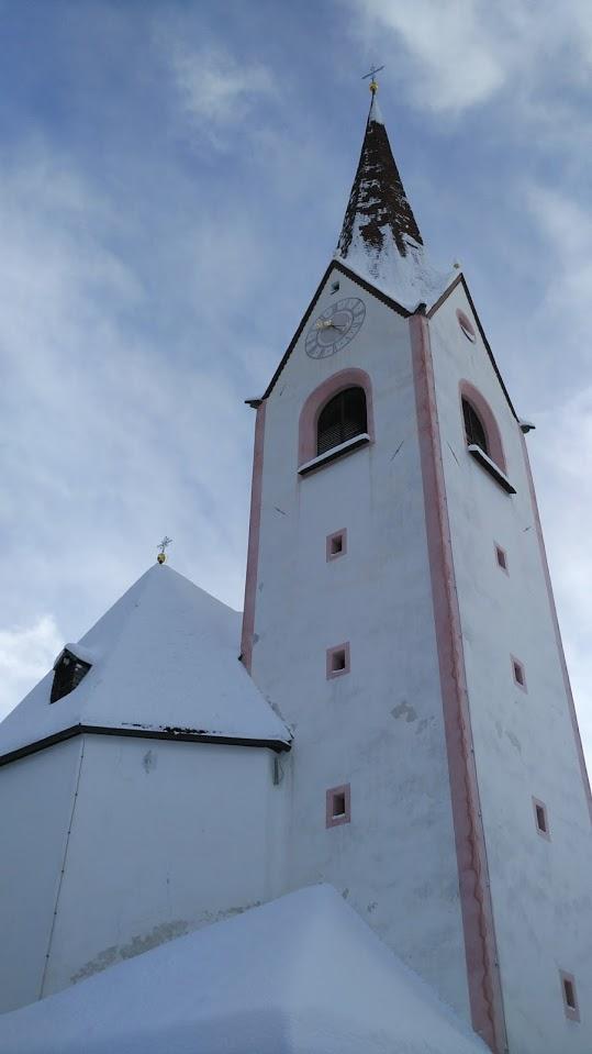 Il campanile di Hopfgarten in Defereggen.
