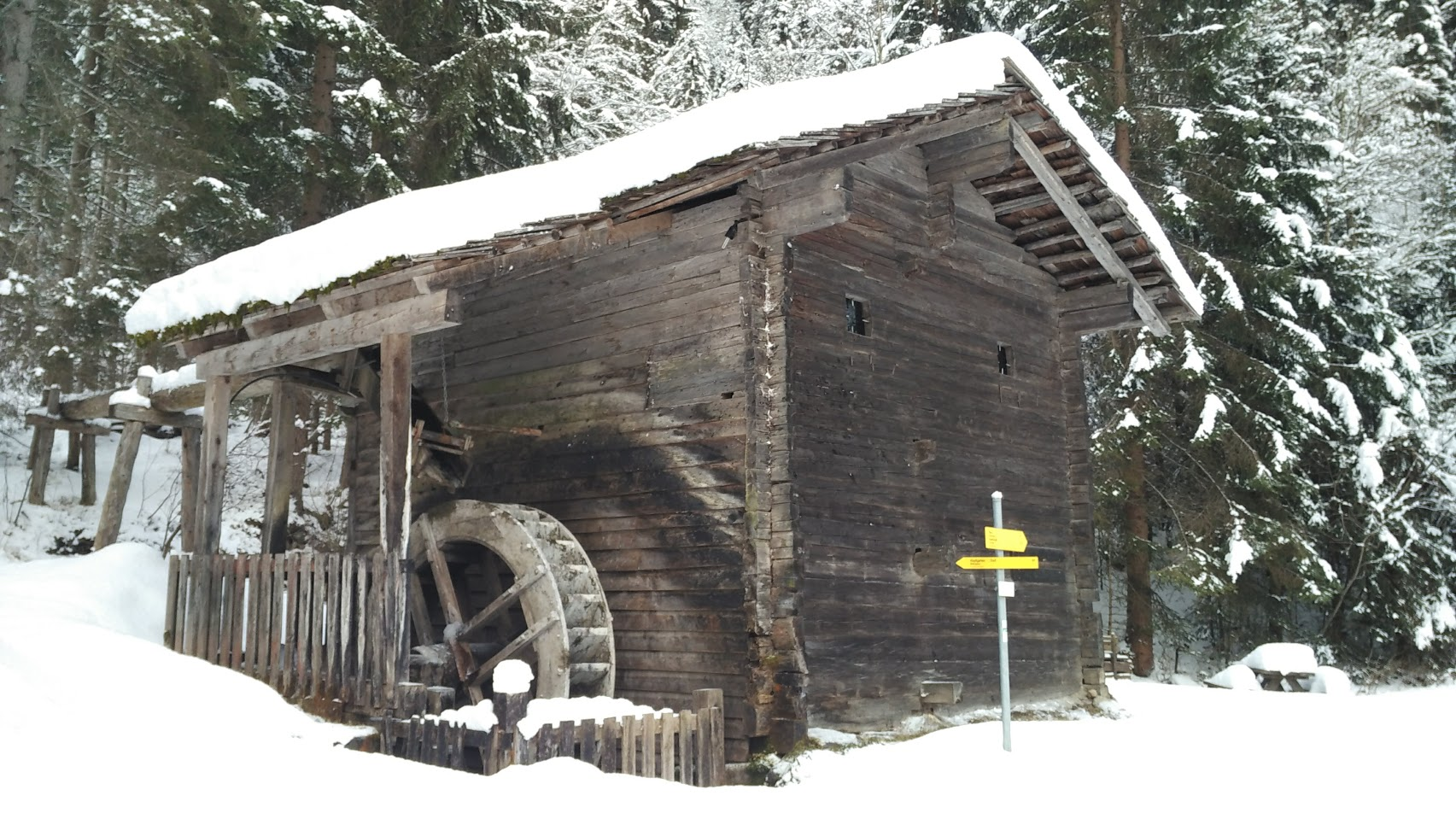 Un vecchio Mulino poco fuori Hopfgarten, lungo la nostra escursione.