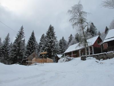 Ecco le prime case di Villaggio Vallorch, il villaggio dei Cimbri.